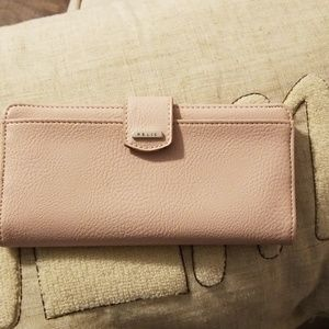 Soft Pink Leather Relic Wallet